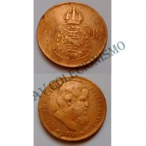 MBZ 008 - Moeda 40 Réis - Bronze - 1880 - MBC