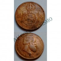 MBZ 009 - Moeda 20 Réis - Bronze - 1868 - MBC