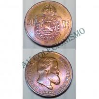 MBZ 787 - Moeda 20 Réis - Bronze - 1868 - SOB