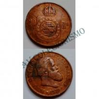 MBZ 789 - Moeda 20 Réis - Bronze - 1870 - MBC