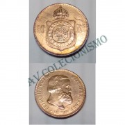 MBZ 785 - Moeda 10 Réis - Bronze - 1869 - MBC - Com Ponto