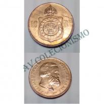 MBZ 785 - Moeda 10 Réis - Bronze - 1869 - SOB - Com Ponto