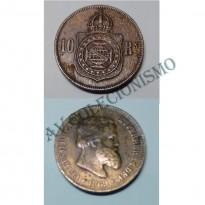MBZ 785a - Moeda 10 Réis - Bronze - 1869 - MBC - Sem Ponto