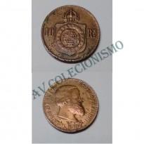 MBZ 786 - Moeda 10 Réis - Bronze - 1870 - MBC