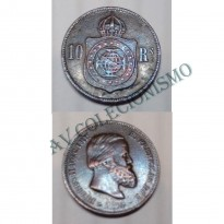 MBZ 786 - Moeda 10 Réis - Bronze - 1870 - SOB