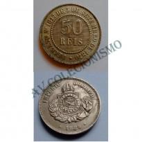 MNI 002 - Moedas 50 réis - 1886 - SOB