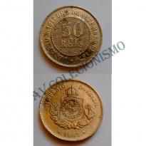 MNI 003 - Moedas 50 réis - 1887 - MBC