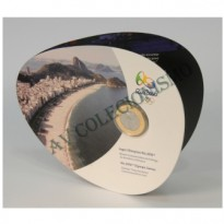 MRS 113A - Moeda 1 Real - Folder-Bandeira Olímpica - 2012 - FC