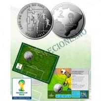 Fôlder com moeda 2 Reais - Copa do Mundo de 2014 - A Cabeçada - MVM572 - 2014 - FC