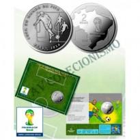Fôlder com moeda 2 Reais - Copa do Mundo de 2014 -  O Passe - MVM573 - 2014 - FC