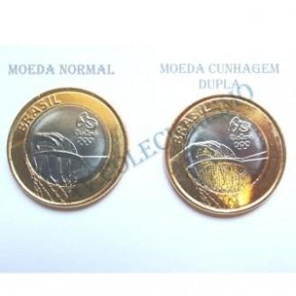 MRS 119A - Moeda 1 Real - Jogos Olímpicos - Rio2016 - Basquetebol - Variante -  2015 - FC
