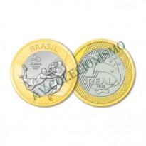 MRS 583 - Moeda 1 Real - Jogos Olímpicos - Rio2016 - Rugby -  2015 - FC