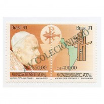 STC1749 - Visita do Papa - João Paulo II - 1991